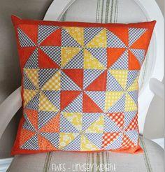 Candy Corn Pinwheels Pillow | Fort Worth Fabric Studio | Bloglovin'