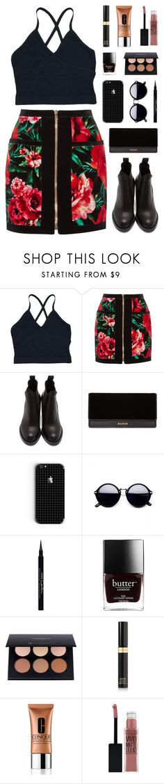 """""""Like I'm gonna lose you"""" by bestraan ❤ liked on Polyvore featuring Balmain, Acne Studios, Givenchy, Tom Ford, Clinique and Maybelline"""
