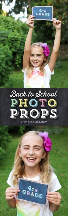 Back to School Printable Chalkboard Photo Prop Signs are perfect to capture kids memories on the first day of school or anytime of the year! By @LivingLocurto