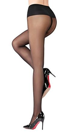 Honenna Silk Reflections T Crotch Sheer to Waist Support Tights Pantyhose * Click on the image for additional details.