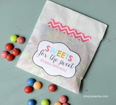 Sweets for the Sweet Friend Gift Idea & Free Printable   simplykierste.com