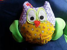 Κουκουβά κουκουβά Owls, Cotton Fabric, Handmade, Hand Made, Owl, Cotton Textile, Craft, Tawny Owl, Handarbeit
