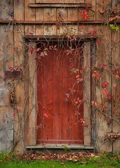 old red doors | Old red barn door
