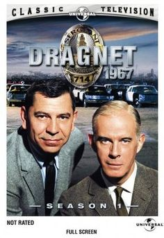 """""""Dragnet"""" detective show revived from the black & white TV version. Beatles, Mejores Series Tv, 60s Tv, Vintage Television, Old Time Radio, Baby Boomer, Old Shows, Great Tv Shows, Vintage Tv"""