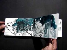 I really like the use of the long sketchbook. The landscapes look so cool and angular.