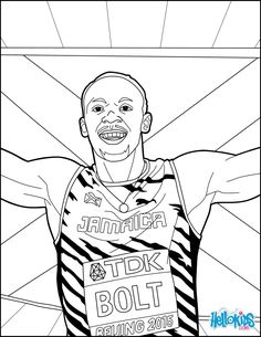 Bolt: World Championships Athletics 2017 coloring page. Are you looking for ATHLETICS coloring pages for kids? Hellokids has selected this lovely Bolt: . Sports Coloring Pages, Coloring Pages For Kids, Coloring Sheets, Coloring Books, Usain Bolt, World Championship, Athletics, Celebs, Vintage Coloring Books