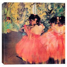 Ballerina in Red by Degas Canvas Print