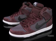 "Nike SB Dunk High ""Deep Burgundy"" (Kwiecień 2012)"