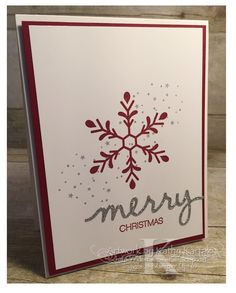 """Faithful INKspirations: Holly, Jolly, Merry Christmas is made with Stampin' Up's """"Holly Jolly Greetings"""" stamp set."""
