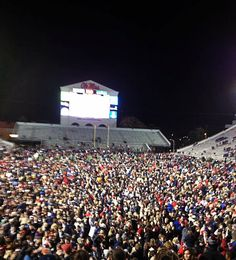 Ole Miss Egg Bowl Victory 2012, rushing of the field