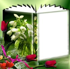 Flower Frame, 8 Martie, Glass Vase, Flowers, Grief, Home Decor, Pink Flowers, Photomontage, Colors