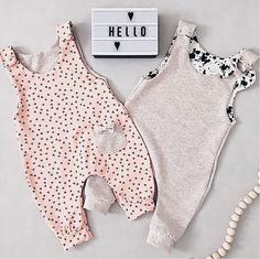 - Jumpsuits and Romper Baby Clothes Patterns, Cute Baby Clothes, Baby Patterns, Clothing Patterns, Diy Clothes, Baby Girl Fashion, Kids Fashion, Baby Jumpsuit, Baby Sewing Projects