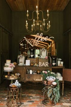 Wedding Coffee bar display | Lauren Rae Photography