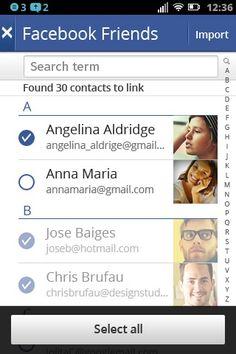 Integración con Facebook, amigos