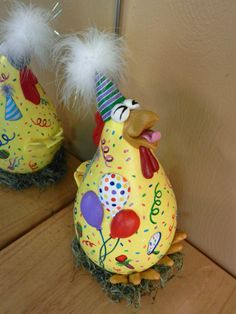 Check out this item in my Etsy shop https://www.etsy.com/listing/218668687/party-chicken-gourd-decor