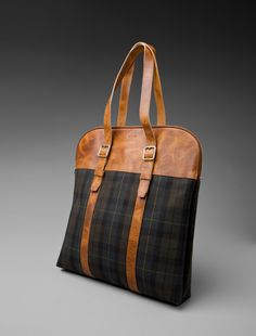 Tartan and Leather Bag