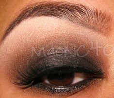 This is another version of a smokey eye and is my personal favorite.  With this version, the intensity is at the lashline and the color gradually gets lighter as you move towards the browbone.