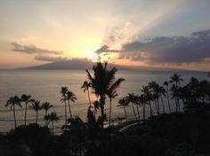 Maui sunset #hawaii #sunset #maui #palmtrees #tropical #beautiful