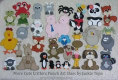 More Cute Critters Punch Art Class