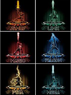 ~Nintendo~ ~Samus~ ~Link~ ~Mario~ ~Captain Falcon~ ~Pikachu~ ~Mega Man~ ~Tron: Legacy~