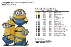 COLORS MINIONS CROSS STITCH PATTERN by syra1974 on DeviantArt