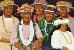 Members of the Wedding, painting by Herb Kawainui Kāne.