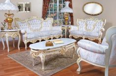 Antique Victorian Furniture. Not sure if I'd want to own, but it sure is pretty.
