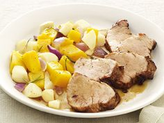 Pork with Squash and Apples from #FNMag #myplate #protein #veggies #fruit