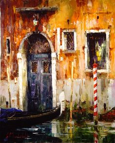 Russian artist Gleb Goloubetski | Colors of Venice 78x63 2006