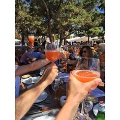 #champagne sangria @bluemarlinibiza the sun came out finally ☀️☀️