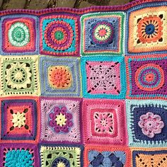 In an effort to broaden my crochet skills I decided to try out a variety of squares and combine them into one blanket. I learnt so much making this blanket (mostly what not to do on the next one!) ...