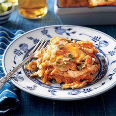 Cheesy Chicken Casseroles | Chicken Enchilada Casserole | MyRecipes