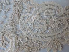 Fine Antique Victorian Brussels Mixed Lace Wedding Handkerchief | eBay
