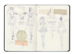 Fashion Sketchbooks, Artist Study r Art School Students, CAPI ::: Create Art Portfolio Ideas at milliande.com Art School Portfolio, Fashion, Clothes, Design, Art, Figurative, Figure, People