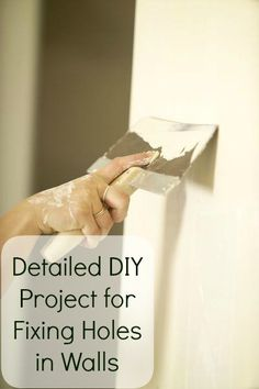 DIY:  Drywall Repair Tutorial - one of the easiest & least expensive  DIY projects a homeowner can do is to repair drywall.