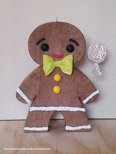 Gingerbread+Man+Pinata+by+wunderlandhome+on+Etsy,+$60.00