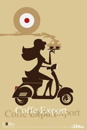 Vespa Coffee Girl