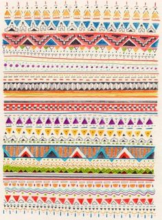 I like that this mexican style pattern is not perfect, it has line going roughly in the same direction but not dead straight which I think makes it look more rustic and gives it a more personal touch.