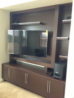 Custom cabinets and installs Contemporary media center