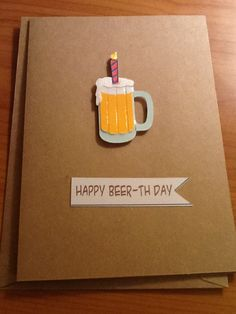 Mens Birthday Card or Custom Father's Day card Custom and ready made available. $2.99, via Etsy.