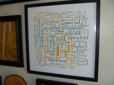 Would love to do this with names of Jesus or attributes of God. Read her instructions before heading to the real site.