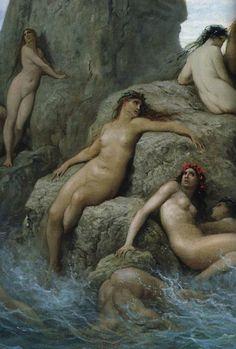 Naides (detail of Les Océanides)  Gustave Doré