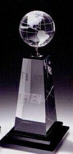 Globe/Golf Tower Crystal Award W/Black Glass Crystal Awards, Recognition Awards, Black Glass, Globe, Tower, Home Appliances, Crystals, Home Decor, House Appliances