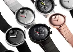 Swiss watch brand Movado has collaborated with industrial designer and Fuseproject founder Yves Béhar to reinterpret its iconic Museum Dial timepiece. Latest Watches, Best Watches For Men, Cool Watches, Men's Watches, Birkenstock, Swiss Watch Brands, Trends, Fashion Watches, Men's Fashion