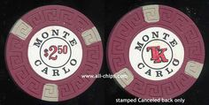 $2.50 Monte Carlo Reno 2nd issue 1970s Cancelled