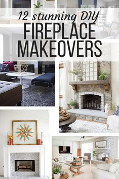 12 DIY Fireplace Makeovers That Will Inspire You - Love & Renovations - Gorgeous fireplace makeover ideas. If you're planning a fireplace remodel, this post will give yo - Brick Fireplace Makeover, Fireplace Remodel, Diy Fireplace, Fireplace Design, Fireplaces, Design Furniture, Diy Furniture, Hacks, Diy Home Improvement
