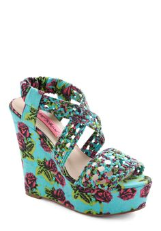 Betsey Johnson All Braid Up Wedge | Mod Retro Vintage Wedges | <3 <3