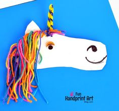 U is for Unicorn Craft Idea: Preschoolers & Kindergarteners will use fine motor skills to make this Shoe Shaped Unicorn Craft Project.