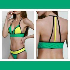 Bikini set Brand new Super cute and colorful. Size M may fit like a S Swim Bikinis