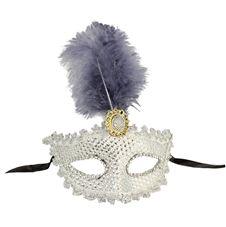 Lyxiga Venetiansk Ögonmask med fjädrar 1